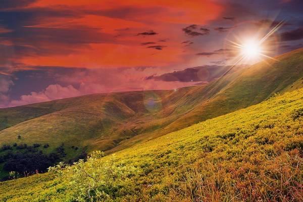 Steep mountain slope
