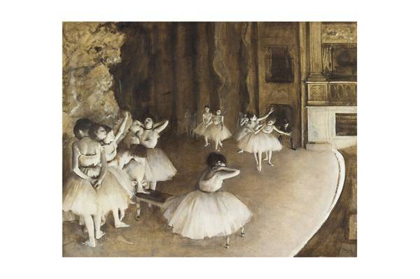 Próba baletowa na scenie